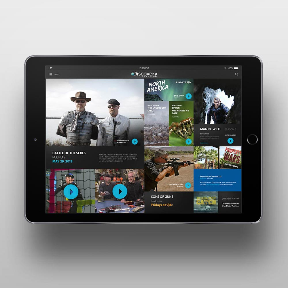 Conceptual iPad application for Discovery Channel