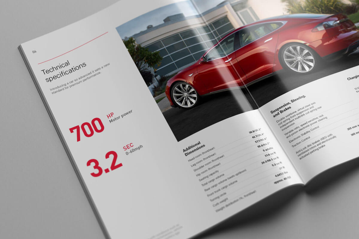 Tesla Model S Catalog. Technical Specifications